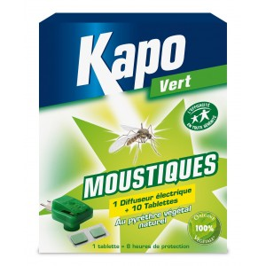 achat diffuseur anti moustiques kapo tablettes v g tal insecticide nuisibles. Black Bedroom Furniture Sets. Home Design Ideas