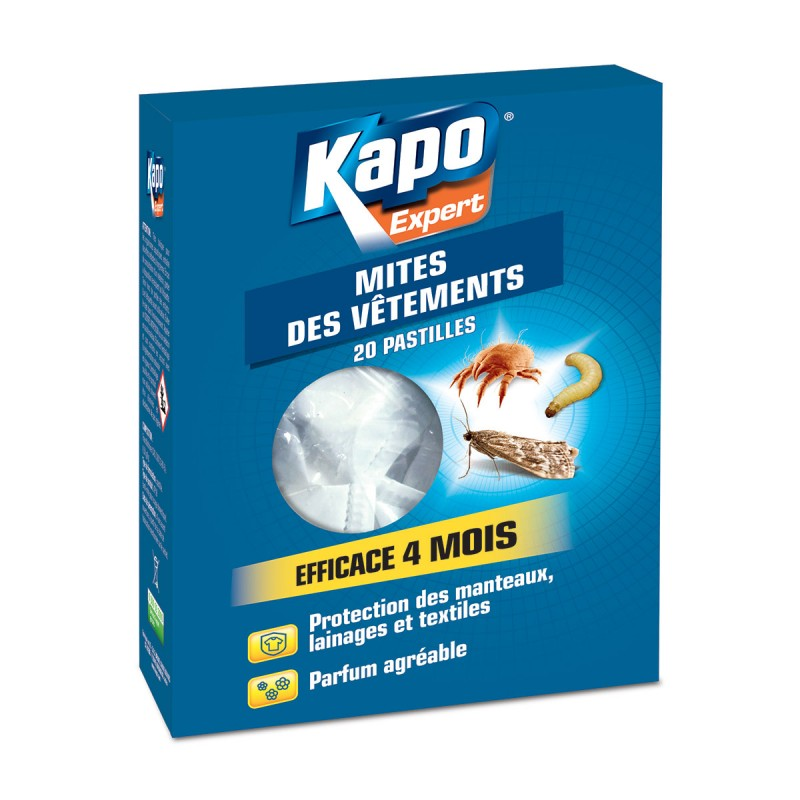 vente pastilles anti mites kapo insecticide mites nuisibles. Black Bedroom Furniture Sets. Home Design Ideas