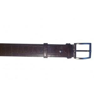 ceinture cuir style croco