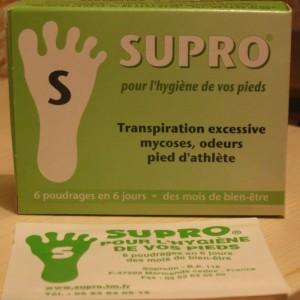 Anti transpiration des pieds SUPRO