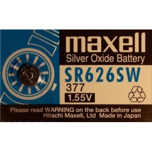 Pile bouton 377/SR626SW oxyde d'argent