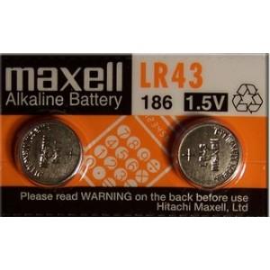 piles bouton alcalines LR43 1,5V
