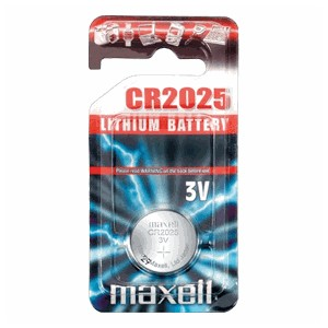 Piles bouton CR2025 3v Maxell