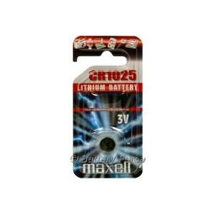 Piles bouton 3v Lithium CR1025