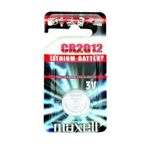 Piles boutons cr2012 MAXELL