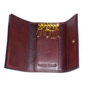 Porte clefs en cuir marron