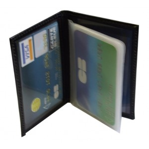 Range cartes de crédits en cuir